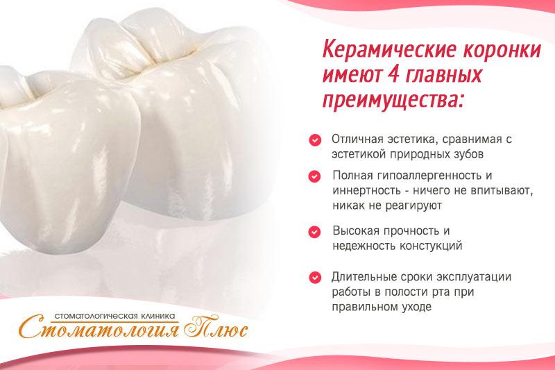 Керамические коронки в Днепре и их свойства