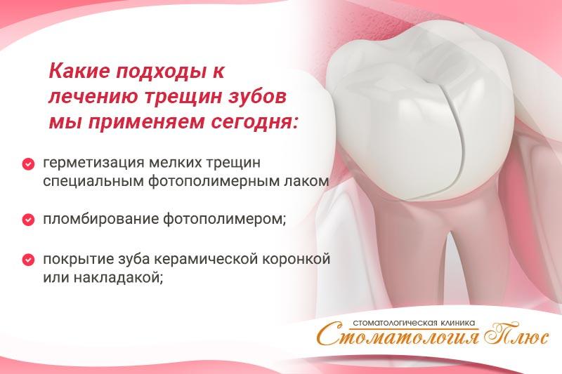 Методы лечения трещин эмали иллюстрация